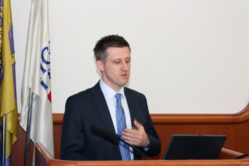 Izlaganje rukovoditelja Centra u  ŽK Split