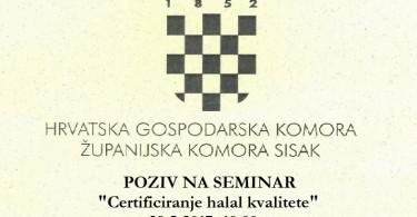 Poziv na seminar ŽK Sisak
